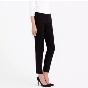J. CREW Paley Pant Favorite Fit Wool Black {EE54}